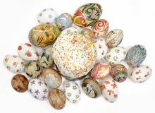 Dolce delle uova di Pasqua Fotografia Stock