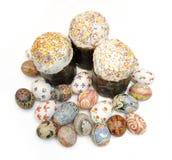 Dolce delle uova di Pasqua Fotografia Stock Libera da Diritti