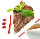 Dolce di cioccolato Fotografie Stock