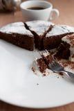Dolce di cioccolato casalingo del Belgio Fotografie Stock Libere da Diritti