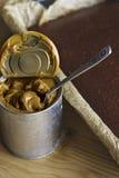 Dolce di cioccolato con caramella Fotografie Stock