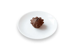 Dolce di cioccolato con il materiale da otturazione del fondente Fotografia Stock Libera da Diritti