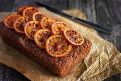 Dolce di cioccolato con l'arancia candita Fotografia Stock