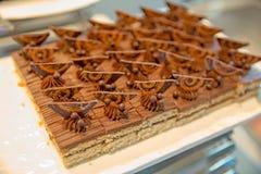 Dolce di cioccolato del caffè immagine stock libera da diritti