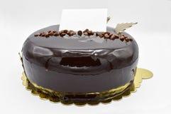 Dolce di cioccolato delizioso per il compleanno e le celebrazioni fotografia stock