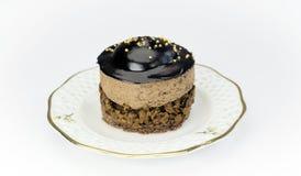 Dolce di cioccolato delizioso su bianco, Fotografia Stock Libera da Diritti
