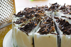 Dolce di cioccolato della banana Fotografie Stock