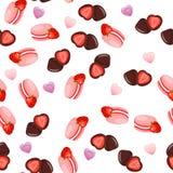 Dolce di cioccolato della fragola Fotografia Stock Libera da Diritti
