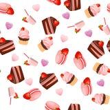 Dolce di cioccolato della fragola Immagini Stock Libere da Diritti