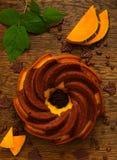 Dolce di cioccolato della zucca fotografia stock libera da diritti