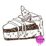 Dolce di cioccolato disegnato a mano Immagine Stock