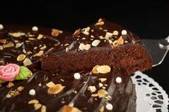 Dolce di cioccolato fondente Immagini Stock Libere da Diritti
