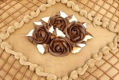 Dolce di cioccolato guarnito Fotografia Stock Libera da Diritti