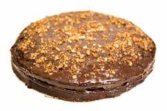 Dolce di cioccolato su bianco Fotografie Stock