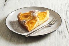 Dolce di miele con le albicocche, torta dell'albicocca Fotografia Stock