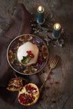 Dolce di Natale con la canna casalinga del caramello Fotografia Stock Libera da Diritti