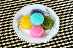 Dolce dolce di strato tailandese del dessert Fotografia Stock