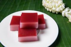 Dolce dolce di strato tradizionale tailandese fotografia stock