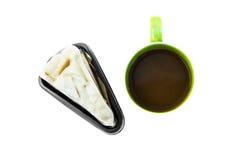 Dolce e caffè di crêpe della noce di cocco. Immagini Stock