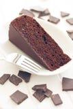 Dolce e cioccolato di Sacher Fotografie Stock