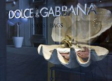 Dolce e Gabbana window in Milan Royalty Free Stock Image