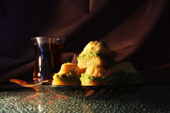 Dolce e tè orientali Fotografia Stock Libera da Diritti