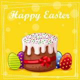 Dolce ed uova di Pasqua della carta Fotografia Stock Libera da Diritti