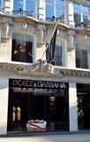 Dolce & Gabbana伦敦 库存图片