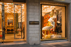 Dolce & Gabbana-boutique Royalty-vrije Stock Afbeelding