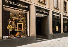 Dolce & Gabbana-boutique Royalty-vrije Stock Fotografie