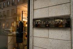 Dolce & Gabbana-boutique Royalty-vrije Stock Foto's