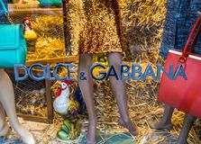 Dolce & Gabbana shop Stock Images
