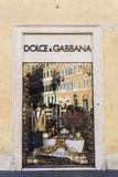 Dolce Gabbana shop in Rome, Italy Royalty Free Stock Photos