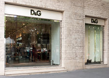 Dolce&Gabbana store in Budapest Royalty Free Stock Photos