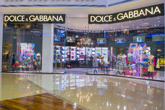 Dolce & Gabbana store Royalty Free Stock Image