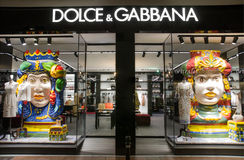 Dolce & Gabbana store in Puerto Banus, Marbella, Spain. Stock Photo