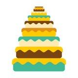 Dolce grande Grande torta Compleanno dell'alimento Carne festiva Immagine Stock