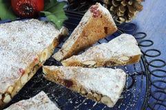 Dolce italiano della frutta di Panforte di stile di Natale Immagini Stock Libere da Diritti