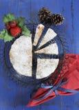 Dolce italiano della frutta di Panforte di stile di Natale festivo tradizionale Fotografie Stock