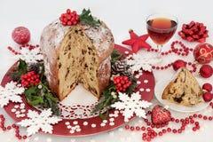 Dolce italiano di Natale del panettone del cioccolato Immagine Stock