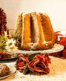 Dolce italiano di Natale, Pandoro Fotografie Stock