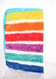Dolce multicolore di sei-strato del pezzo Immagini Stock Libere da Diritti