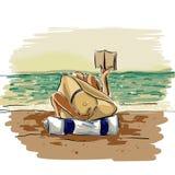 Dolce plaża royalty ilustracja