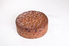 Dolce ricco della frutta/dolce tradizionale di Britannici Pasqua dolce di Simnel, ghiaccio pronto da cuocere Fotografie Stock