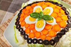 Dolce salato del pancake Fotografie Stock