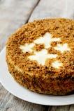 Dolce-torta di formaggio della carota Fotografie Stock