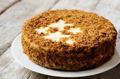Dolce-torta di formaggio della carota Immagine Stock