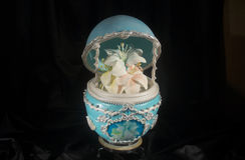 Dolce unico dell'uovo di Faberge Fotografia Stock Libera da Diritti