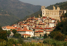 Dolceacqua. A medieval town in the Valle Nervia, Liguria, Italy royalty free stock images