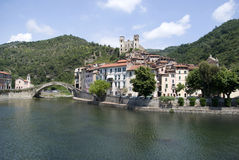 Dolceacqua. Ancient village of Italy Royalty Free Stock Photos